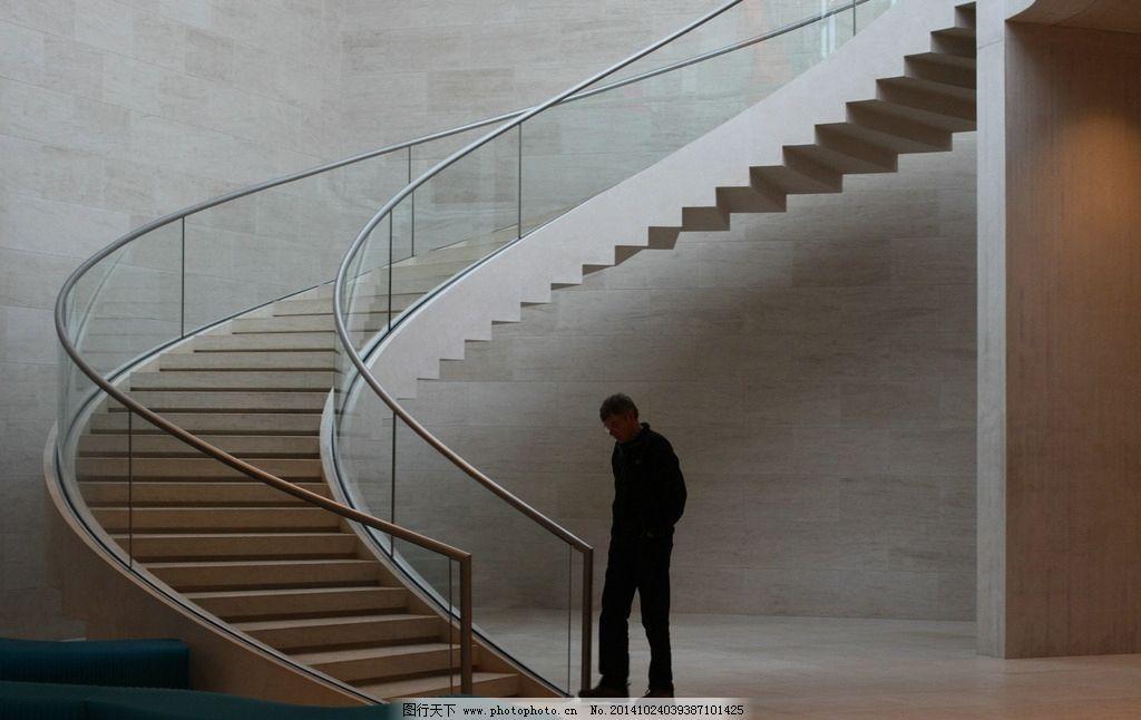 建筑 设计 室内 楼梯 旋转楼梯 孤独 一个人 寂寞 徘徊 思考 抽象