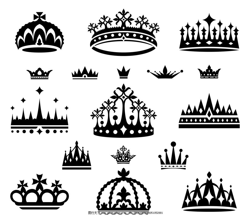 设计图库 标志图标 网页小图标  皇冠 欧式皇冠 王冠 花纹 帽子 皇家