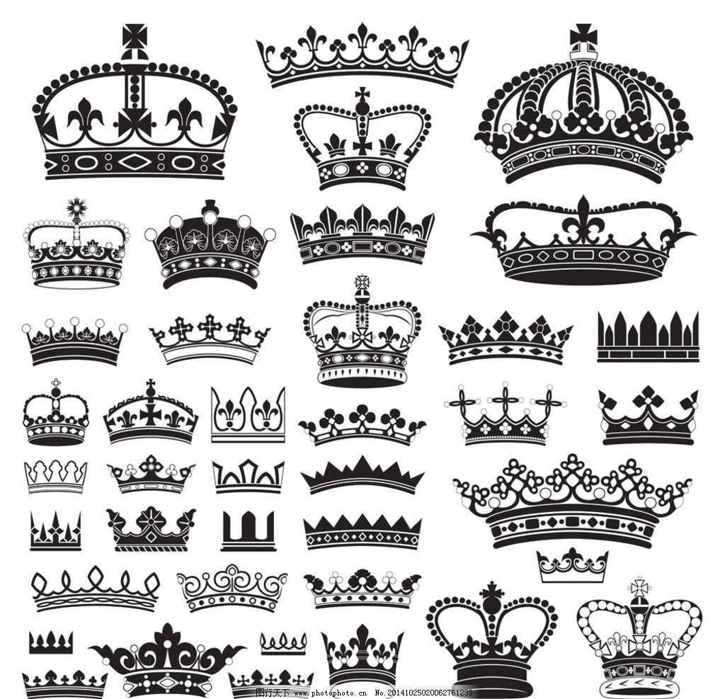 皇冠图片,欧式皇冠 王冠 花纹 帽子 皇家 皇族-图行
