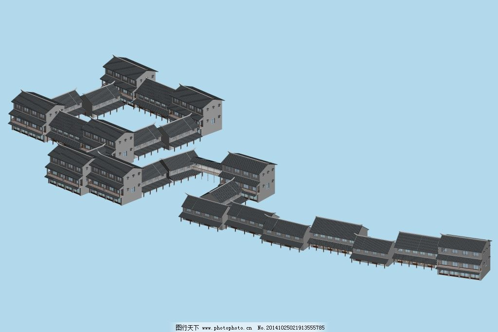 古代建筑免费下载 房子 古代 建筑 模型 模型 建筑 房子 古代 3d模型