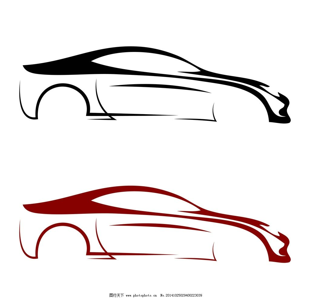 汽车图标 手绘 交通工具 矢量 标志 汽车logo设计 设计 广告设计 logo