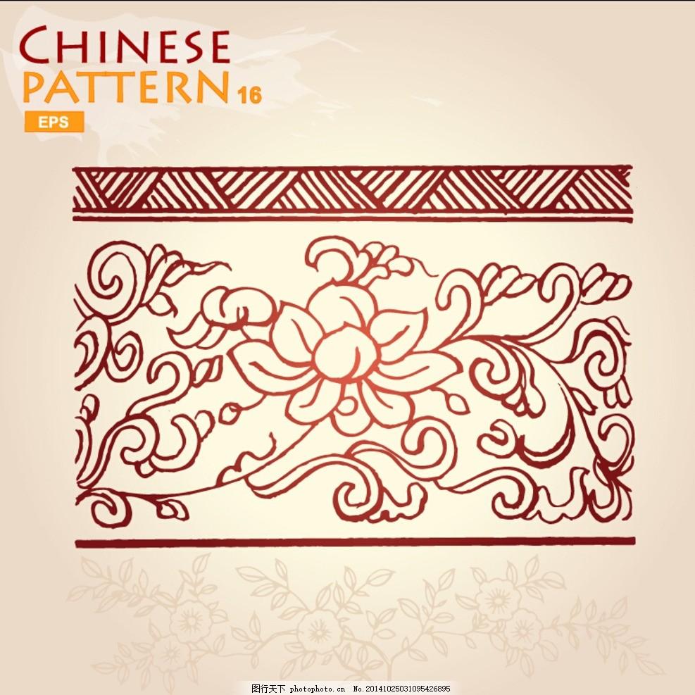 中国元素 中国传统素材 手绘 边框 相框 龙 印章 中国风 矢量