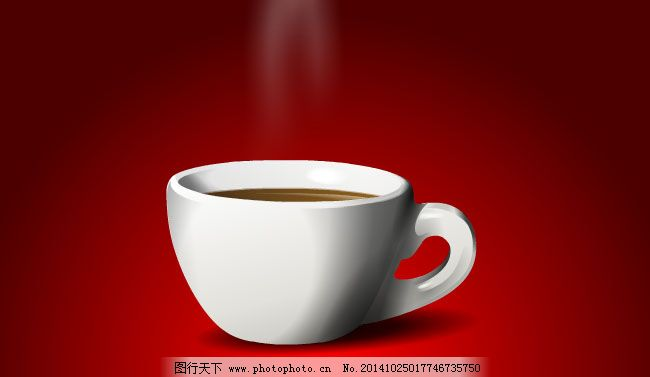 热气腾腾的咖啡杯