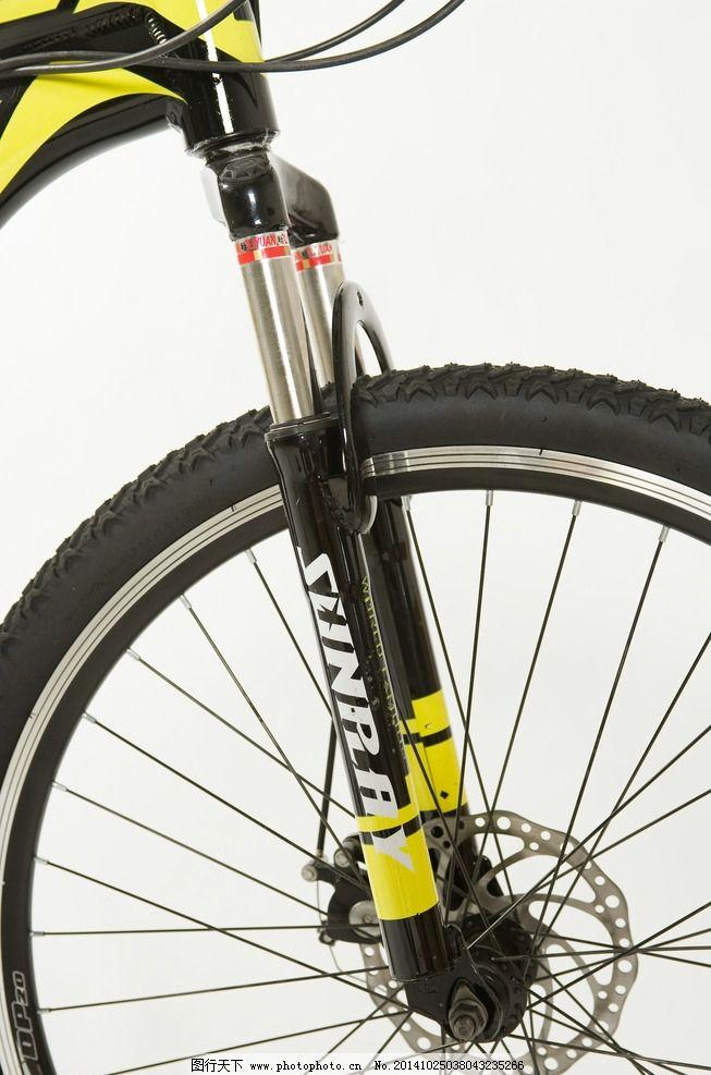 山地车细节照 车轮 车把 刹车 变速器 车身 脚踏 飞轮 摄影