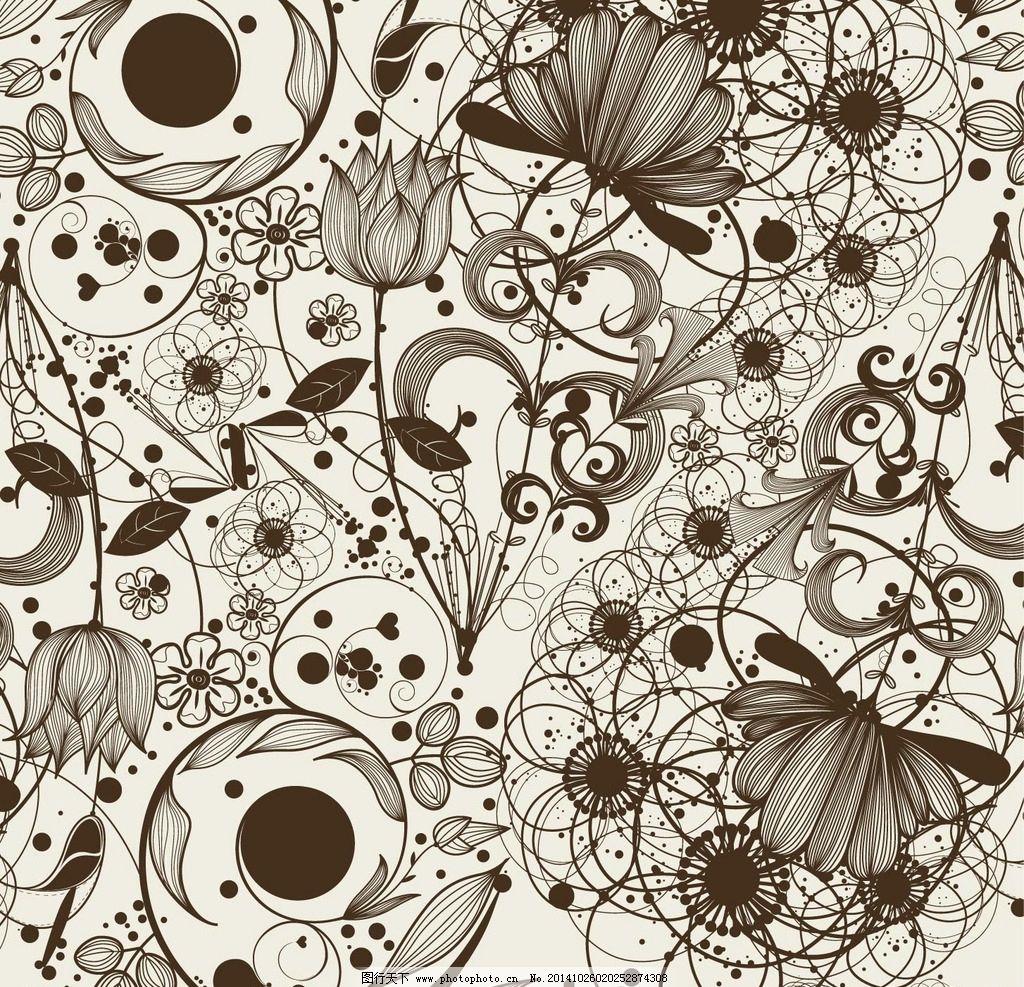 手绘花纹图片