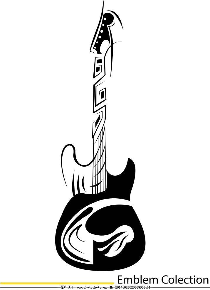 纹身 手绘 吉它 纹身图案 设计 eps  设计 底纹边框 花边花纹  eps