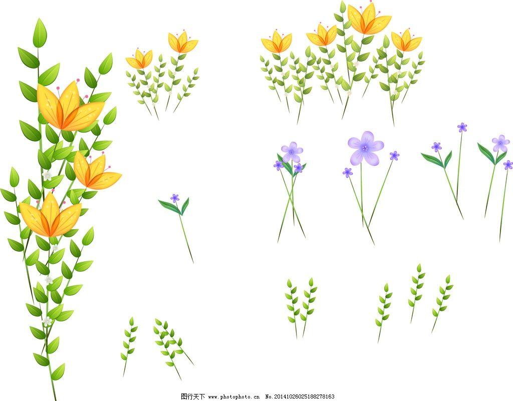 卡通 花朵素材图片