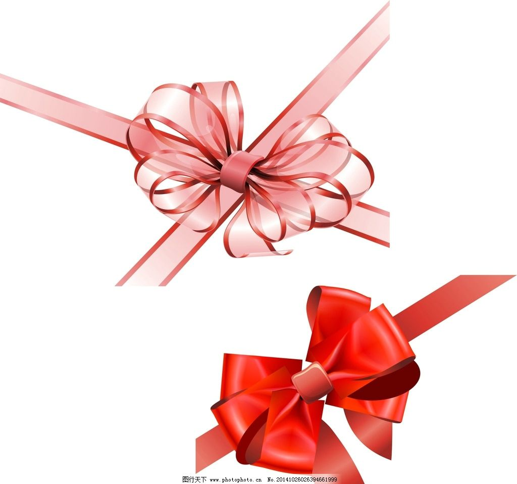 矢量素材 矢量装饰 包装 粉色蝴蝶结 手绘蝴蝶结 蝴蝶结素材  设计