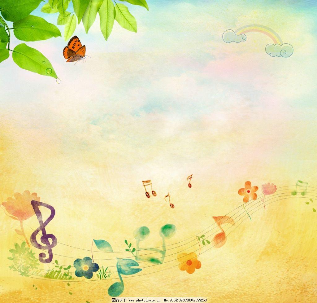 韩国插画海报图片,韩国插画背景 淡雅 背景素材 绿色