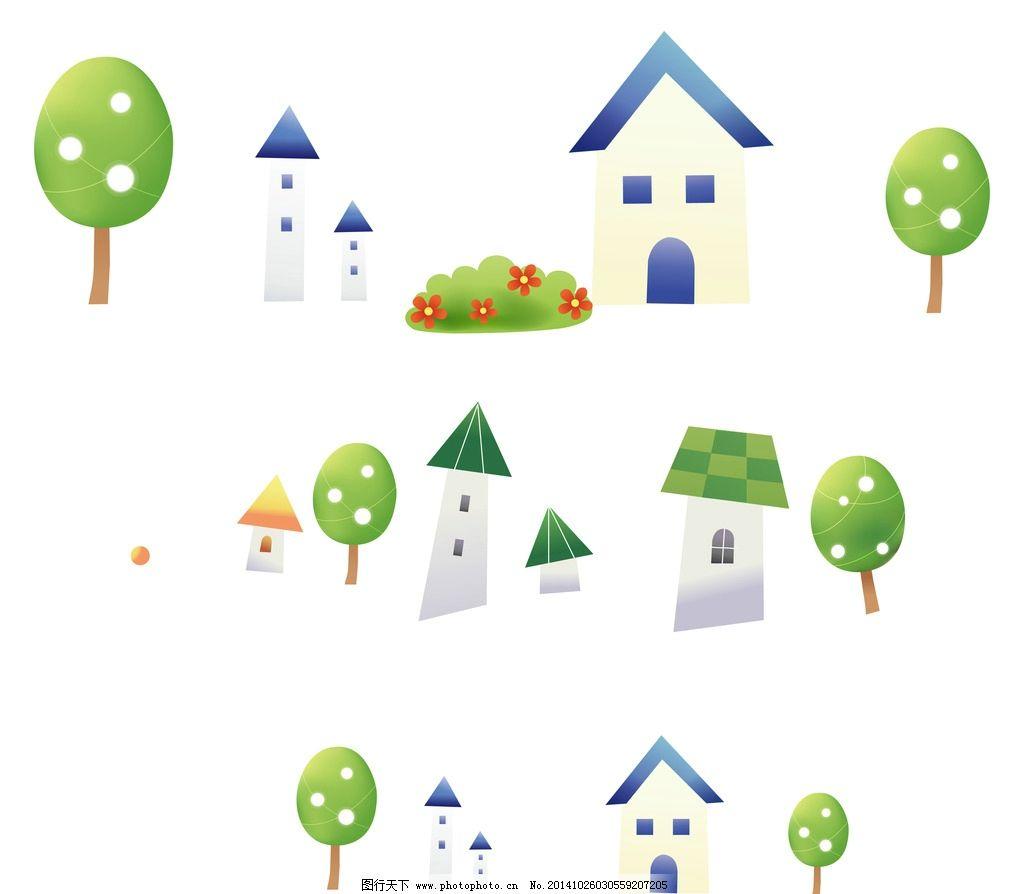 卡通 小房子图片