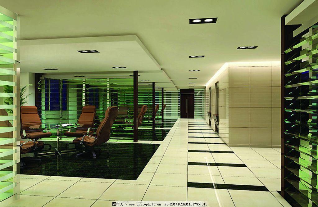 绿色走廊免费下载 高档 室内 装修 室内 装修 高档 装饰素材 室内设计