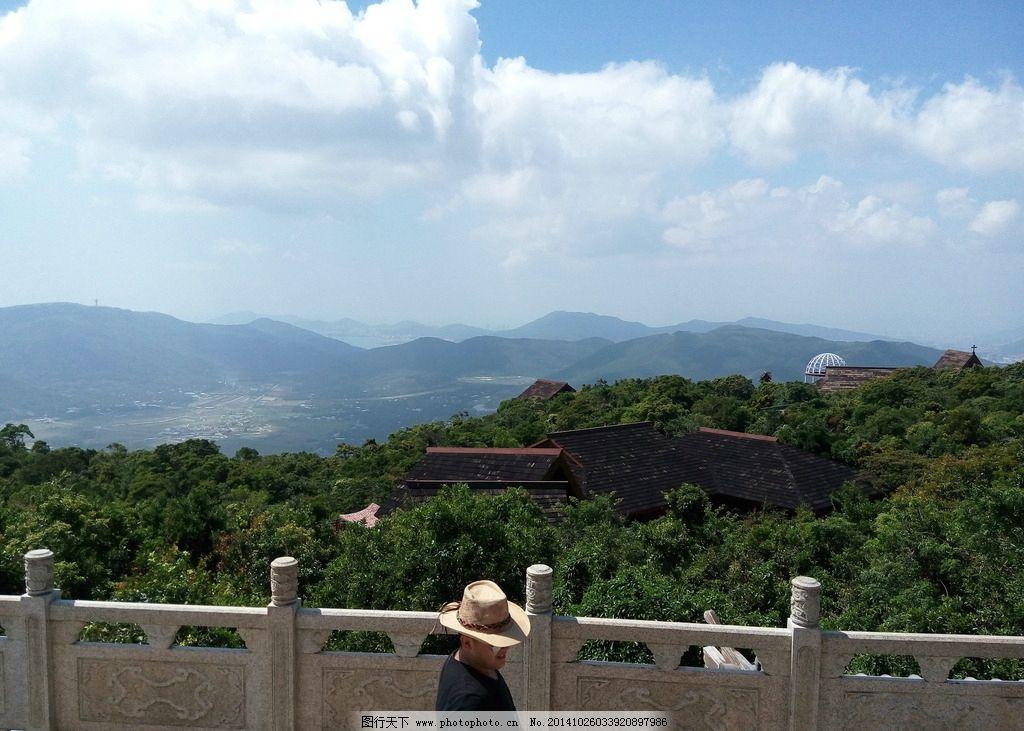 高山 蓝天 白云 远景 风景 亚龙森林 公园 摄影 旅游摄影 国内旅游 72