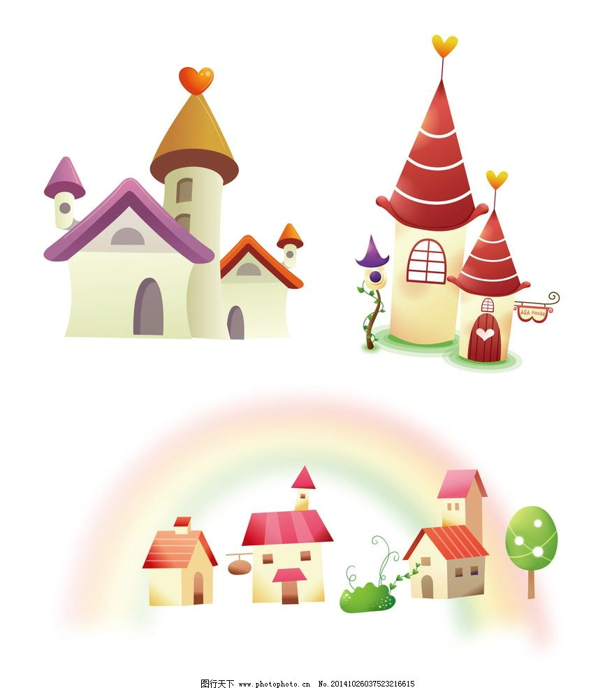 幼儿园外墙卡通欧式城堡
