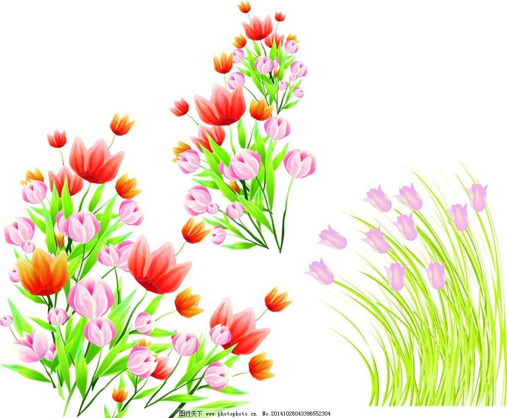 花草 手绘 时尚 春天素材 春季素材 绿色植物 绿色装饰素材 卡通素材