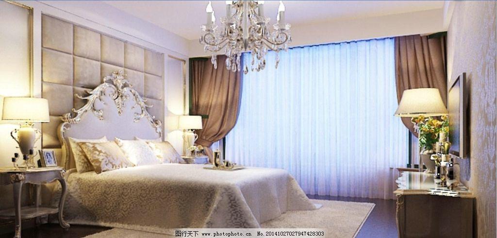 卧室 简约 欧式 简约欧式 床头背景 装修 效果 风格