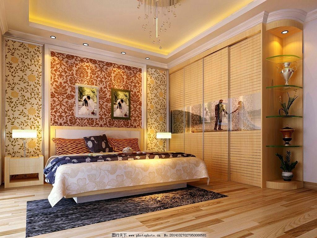法式欧式房间卧室效果图图片_室内设计_环境设计_图行图片