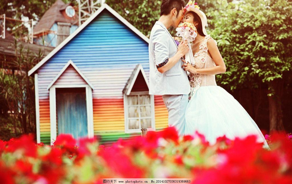 样片 浪漫婚纱 园林 甜蜜婚纱照 幸福婚纱照 模特 礼服 婚纱影楼 摄影