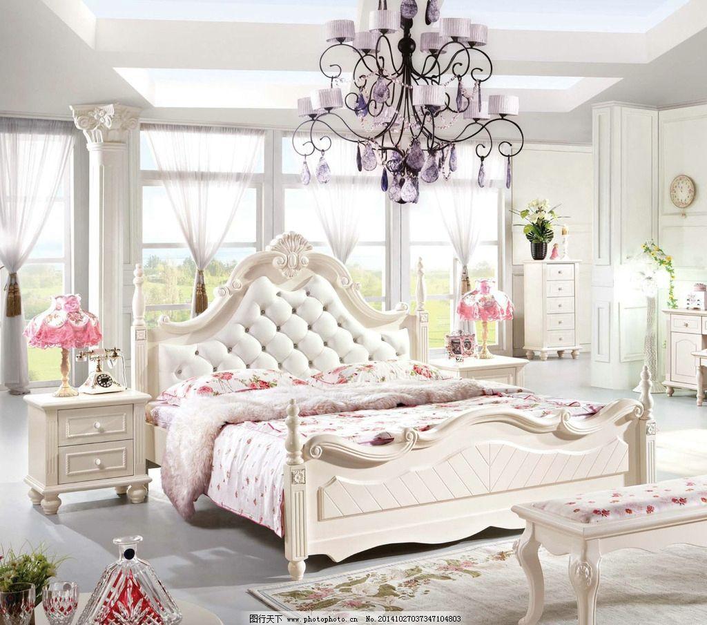 欧式床家具图片