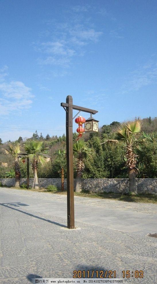 木制 灯柱 景观小品 设计素材 景观设计 景观设计素材 摄影 建筑园林