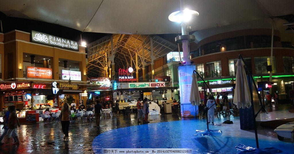 普吉岛夜景 泰国 夜市 商场 灯光 摄影