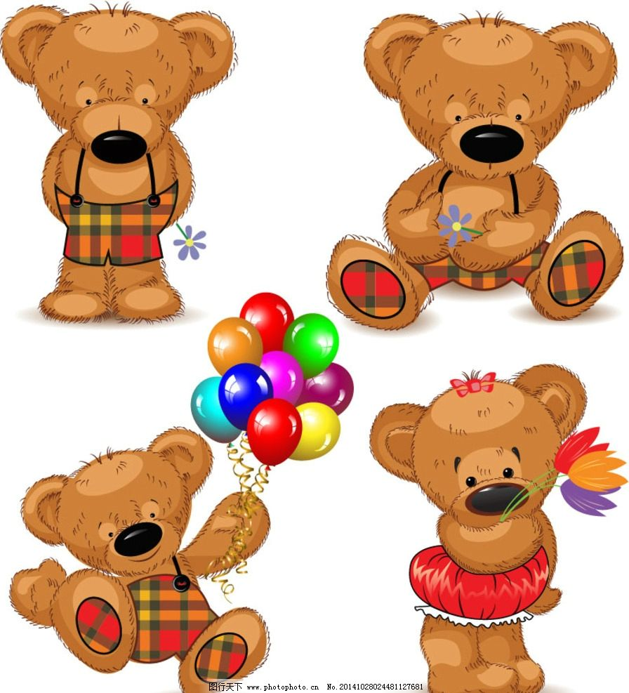 可爱泰迪熊 熊