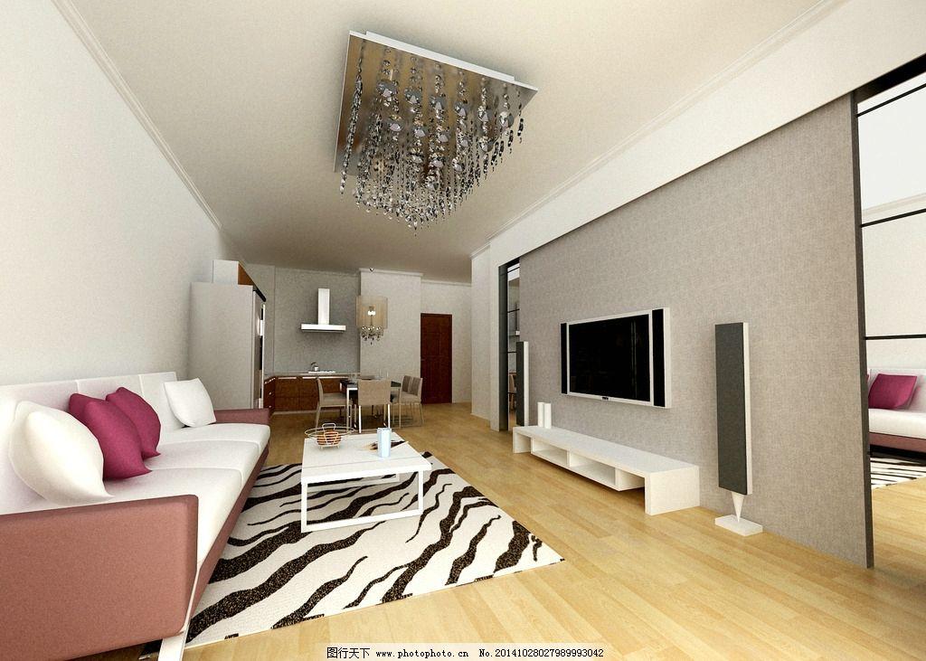 客厅电视墙图片_室内设计_环境设计_图行天下图库