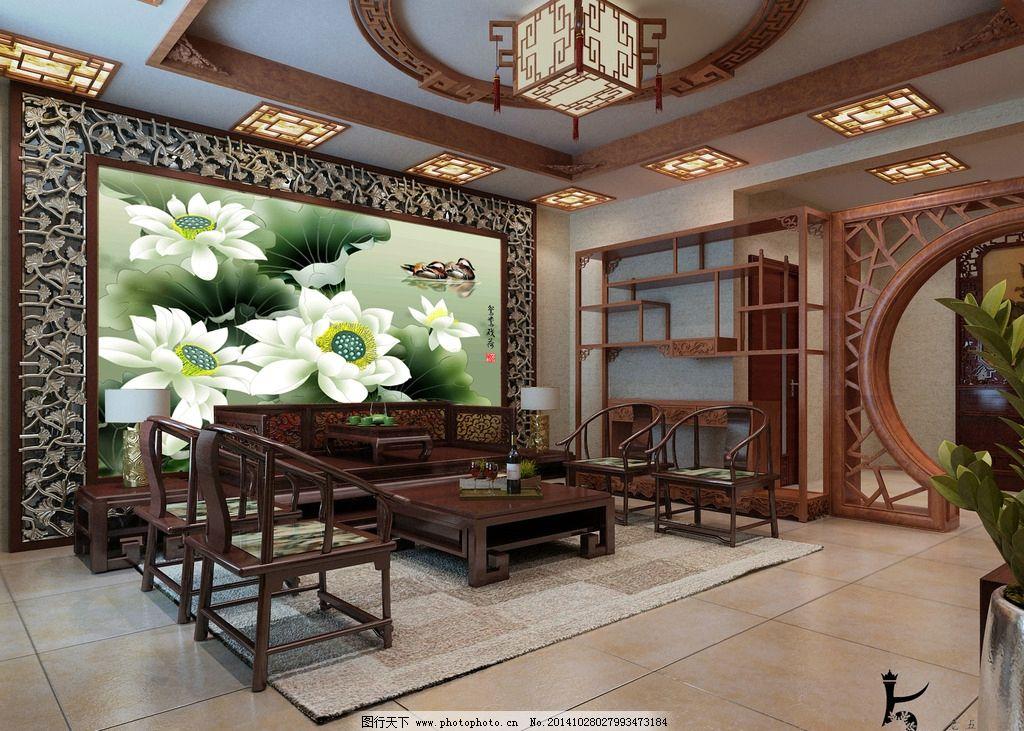 室内背景墙效果图设计图片