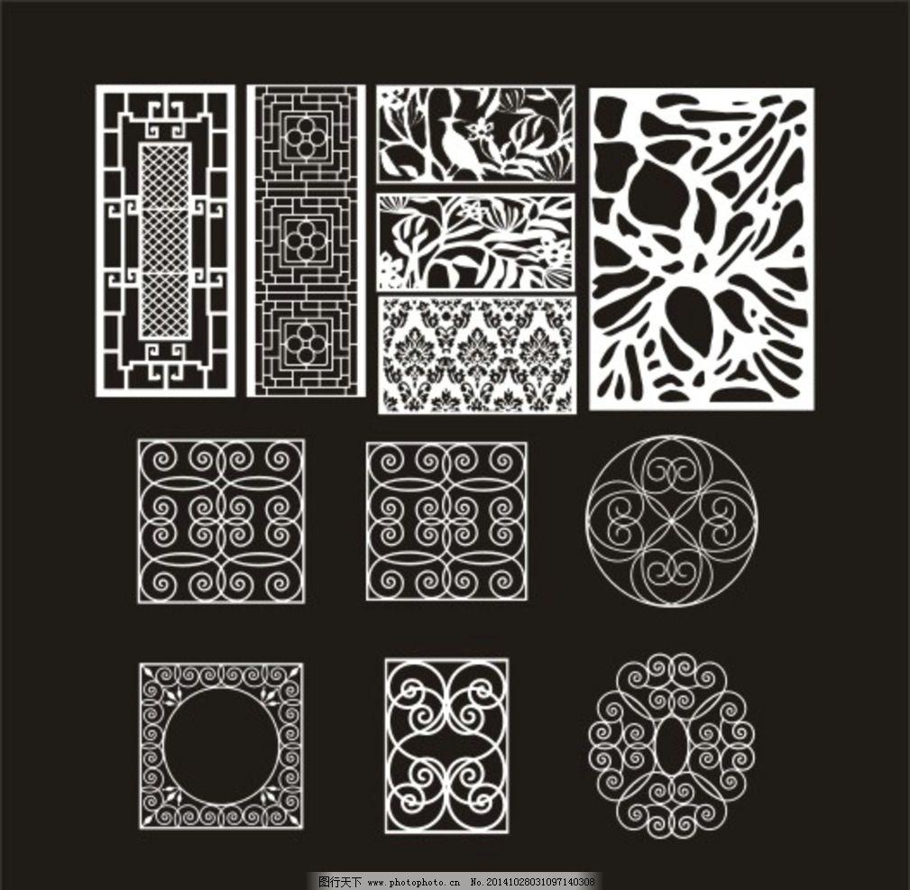 木材雕花素材图片