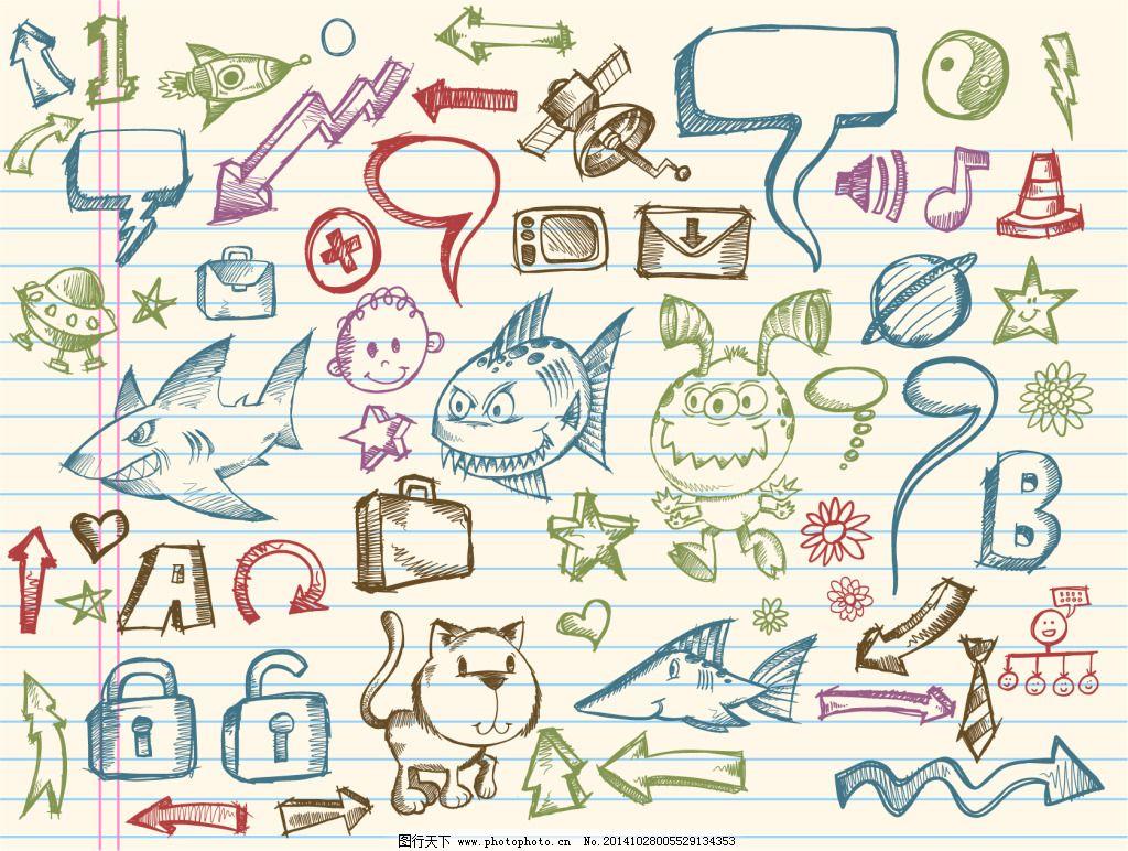 海报小动物边框手绘简单漂亮