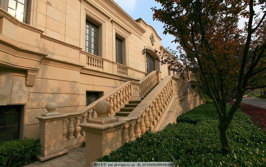 高端古典欧式联排别墅 法式 高贵 建筑 干挂 石材 排屋 对称