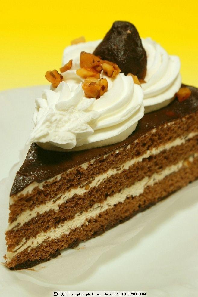 巧克力蛋糕 小蛋糕 西餐美食 甜点 餐饮美食 摄影 切片蛋糕 可爱蛋糕