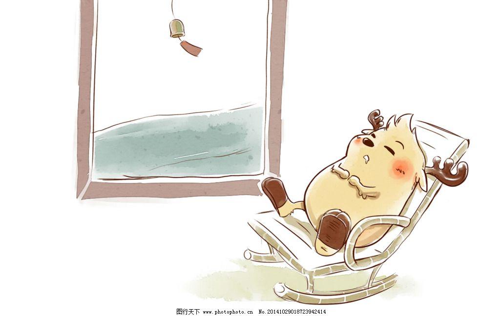 鹿小漫手绘壁纸午睡