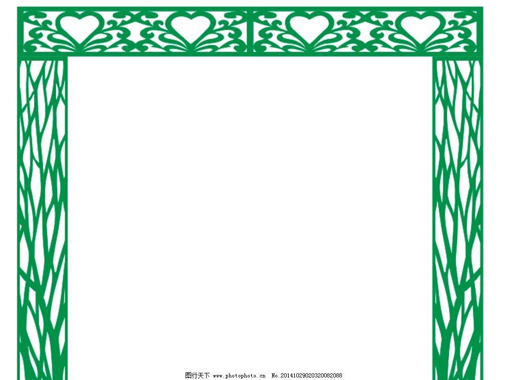 隔断 雕花 窗花 隔断雕刻 树 装饰窗花 底纹边框 设计 底纹边框 花边