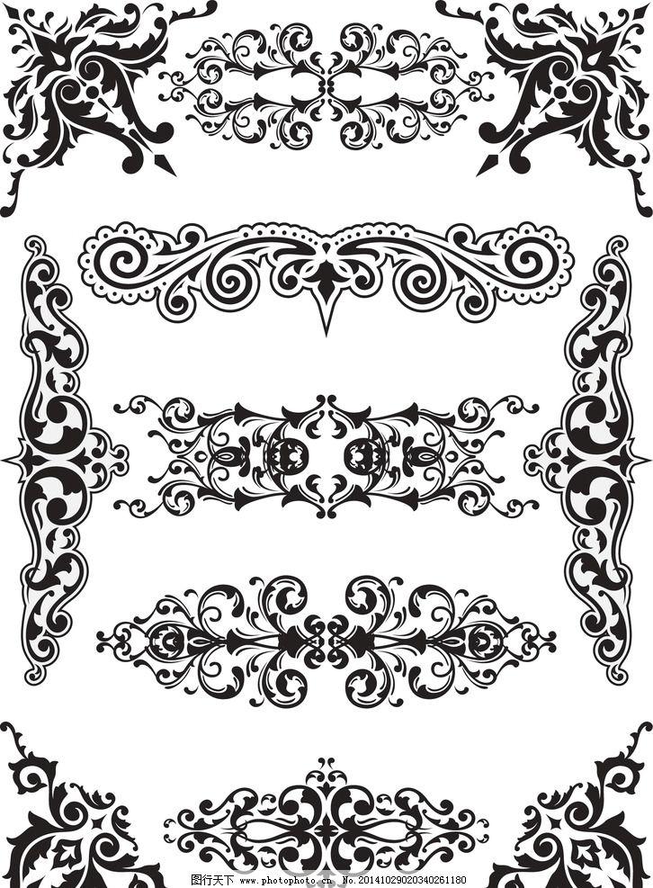 欧式古典花纹边框矢量图片