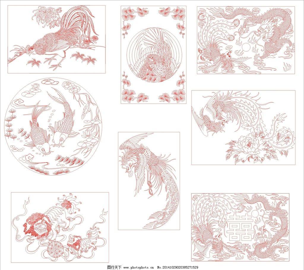 矢量 花纹花边 背景底纹 设计 底纹边框 花边花纹 cdr 动物 植物 绘画