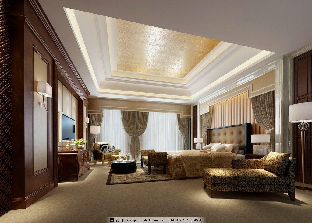 欧式卧室图片,效果图 室内设计 渲染 吊顶 家装 客厅