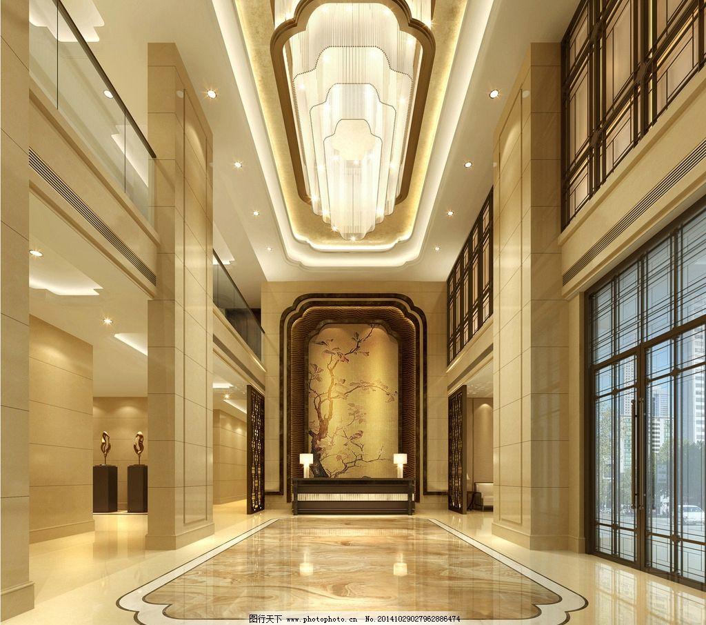 酒店大堂室内设计效果图片