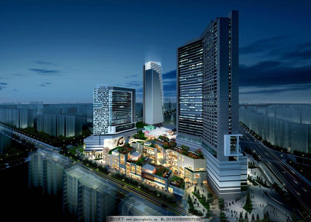 建筑效果图 手绘建筑 3d建筑 建模 高楼大厦 模型 绘画 3d设计 设计