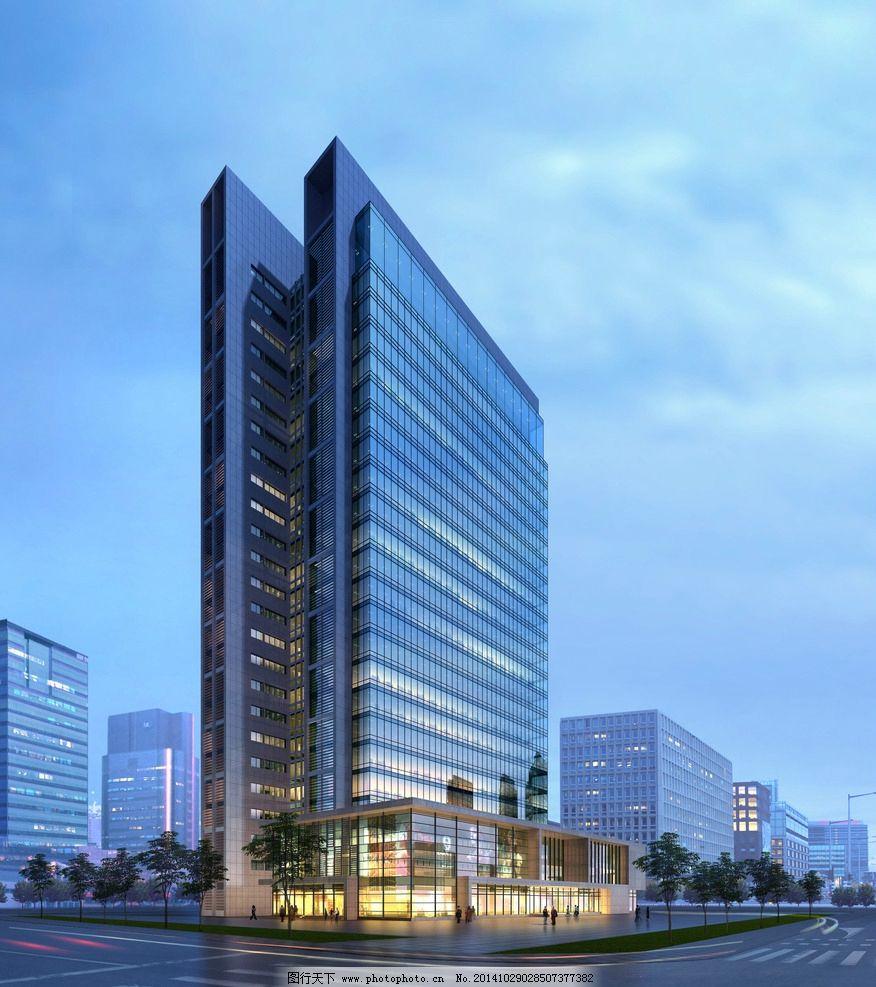 建筑效果图 手绘建筑 建模 高楼大厦 模型 绘画