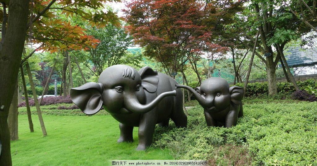 雕塑小品 设计 景观 建筑园林 雕塑艺术 象 大象 动物 石雕 摄影 建筑图片