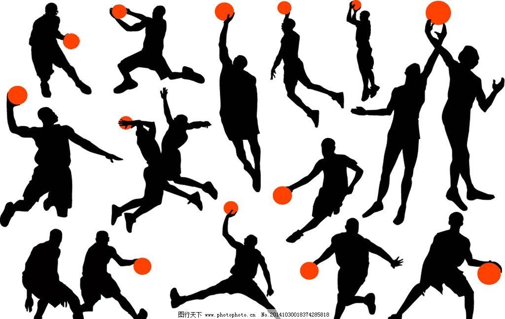 打篮球人群组合图片_动漫人物_动漫卡通_图行天下图库