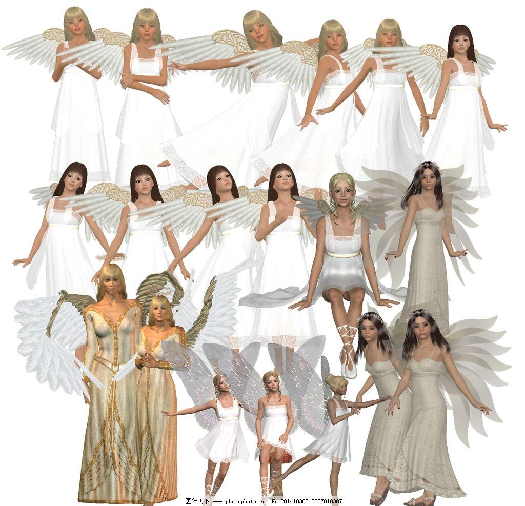 白衣天使小精灵图片