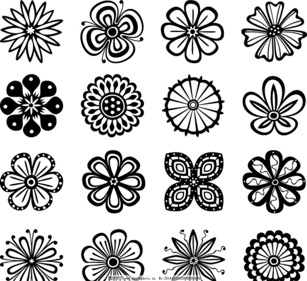 花纹图案 边框 花边 黑白花纹 欧式花纹 花纹边框 装饰花纹 建筑花纹