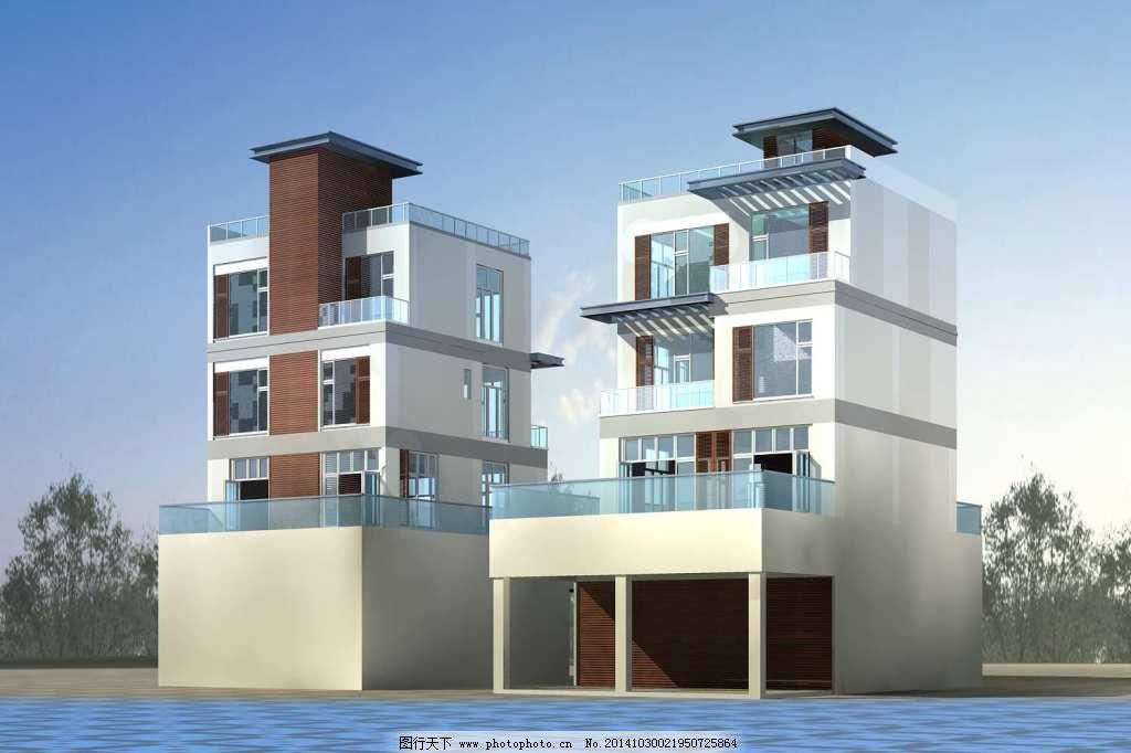 别墅建筑_建筑模型_3d设计
