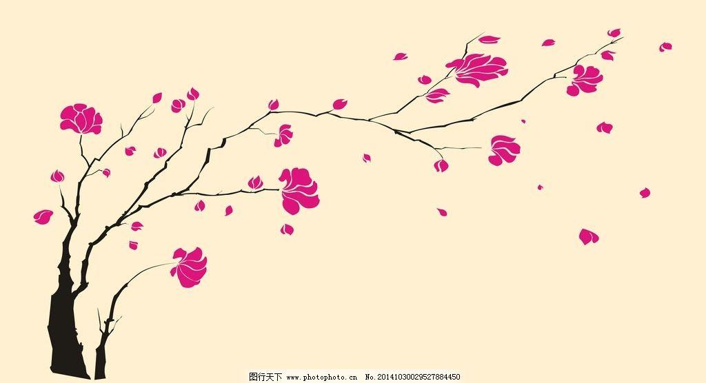 梅花手绘背景素材图片