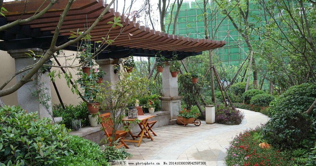景观廊架图片_园林建筑