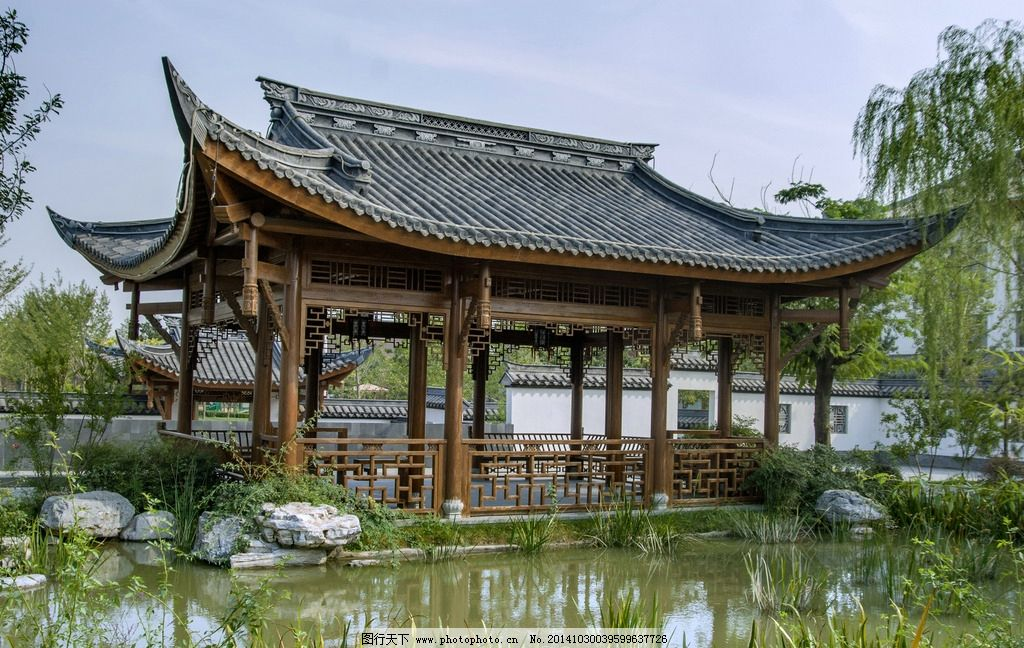 传统建筑 中国古建 木结构 木建筑 飞檐 水景 假山 亭台 造园 园林