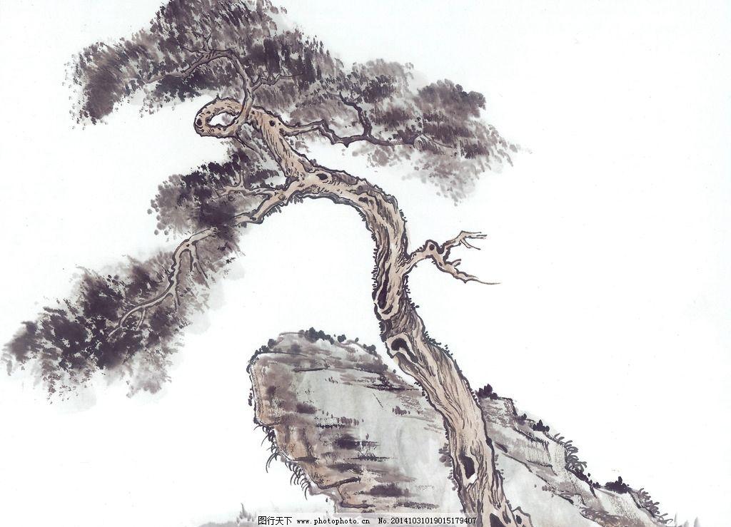 国画树木 中国画