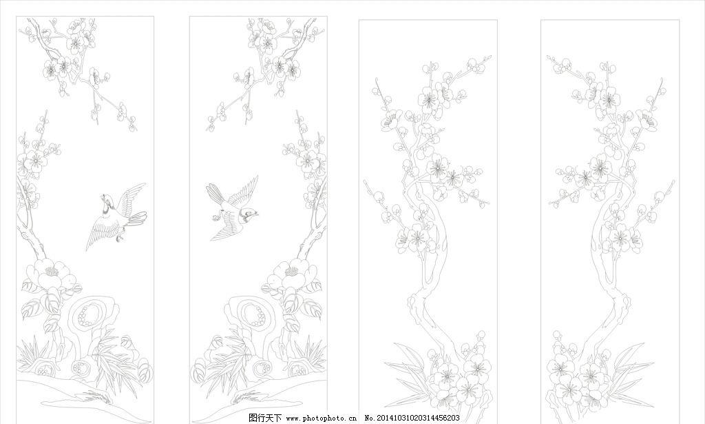 高精度传统花鸟矢量图图片