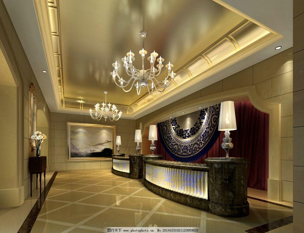 售楼处 门厅 服务台 欧式 大堂 设计 3d设计 室内模型 72dpi jpg